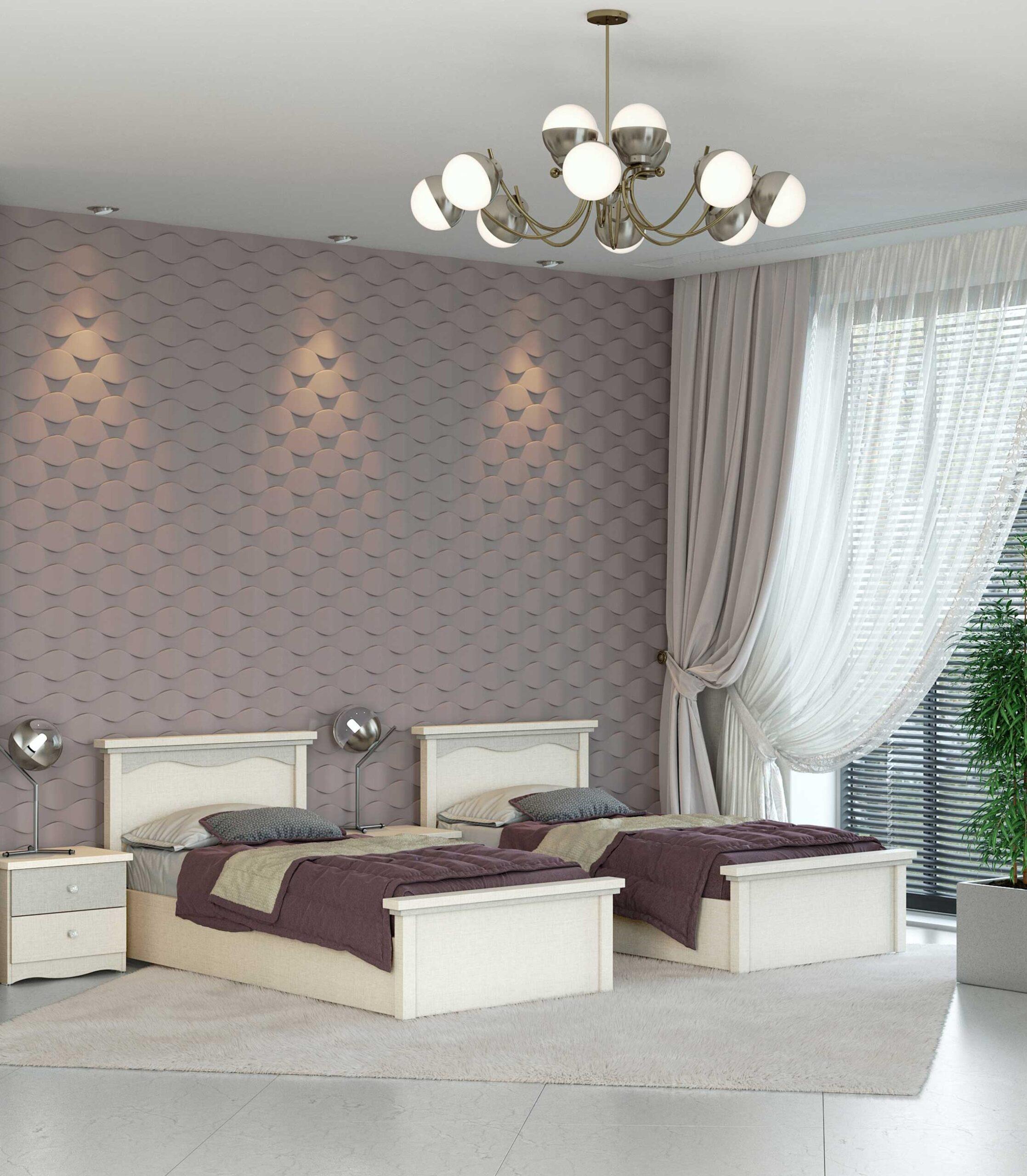 מיטות חדר שינה בהפרדה ושידת לילה