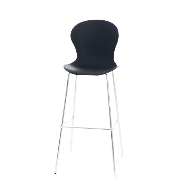 כיסא בר מתכת ופלסטיק גיבסון
