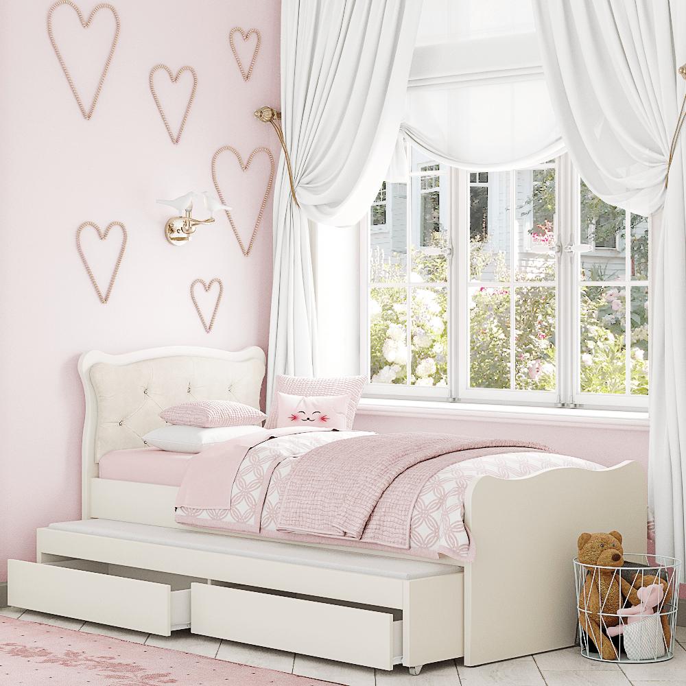 מיטה משולשת לחדר ילדים